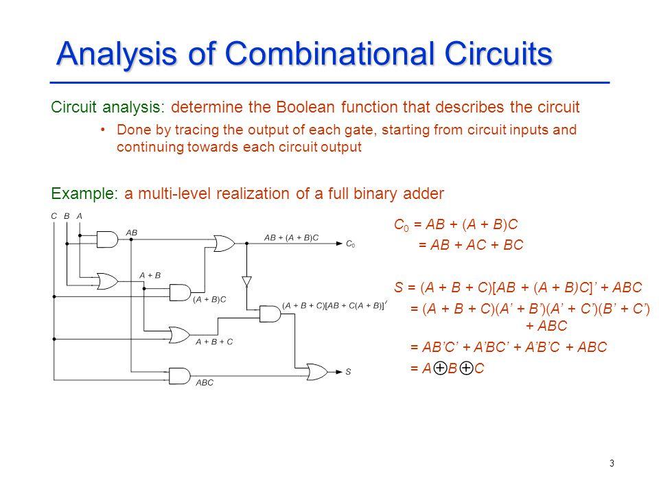 Analysis of Combinational Circuits