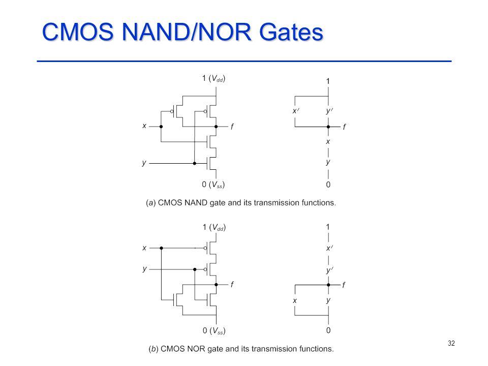 CMOS NAND/NOR Gates