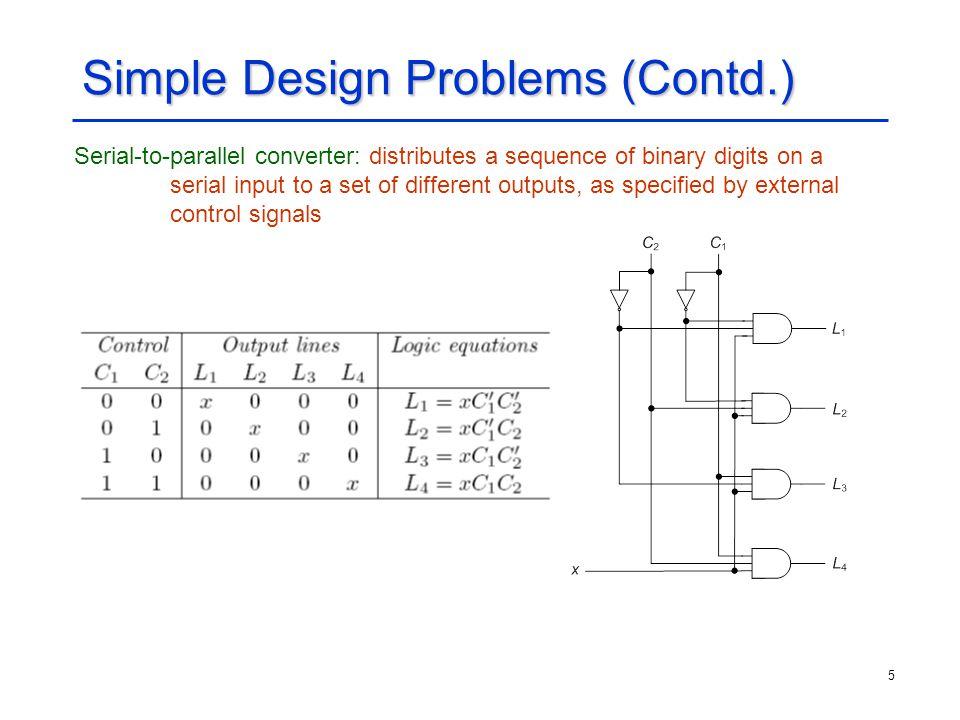 Simple Design Problems (Contd.)