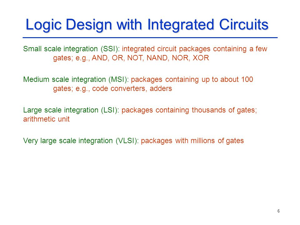 Logic Design with Integrated Circuits