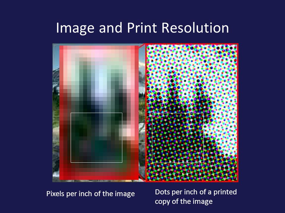Image and Print Resolution