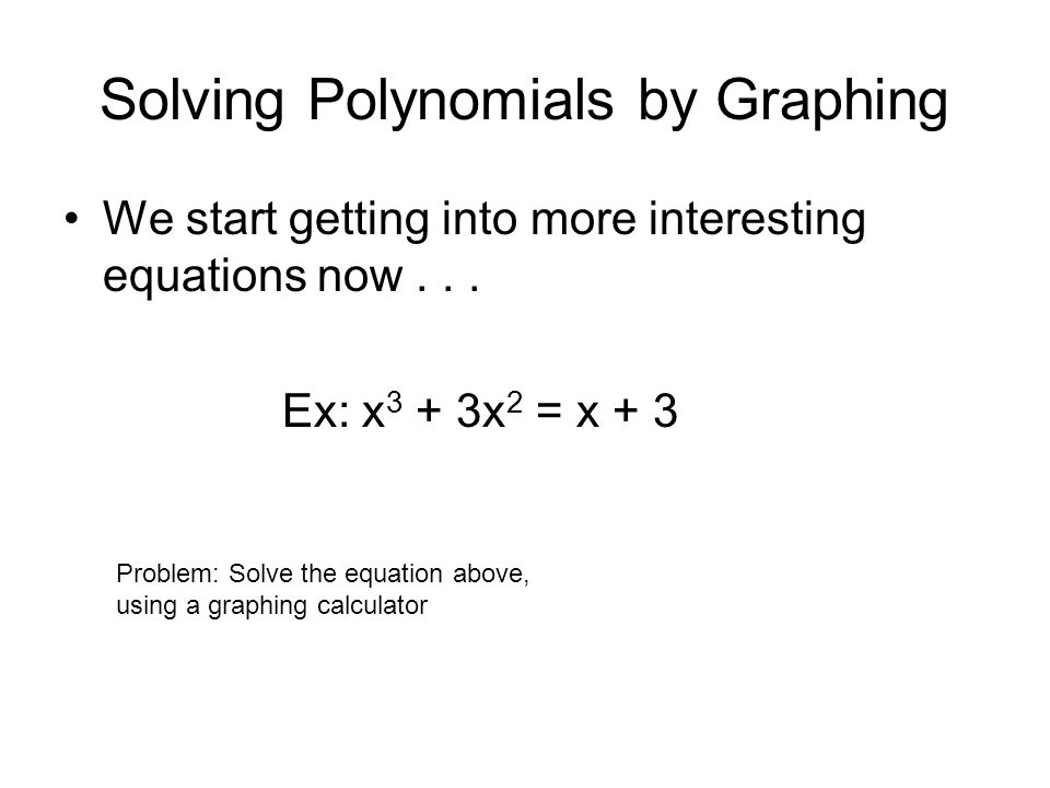 Solving Polynomials by Graphing