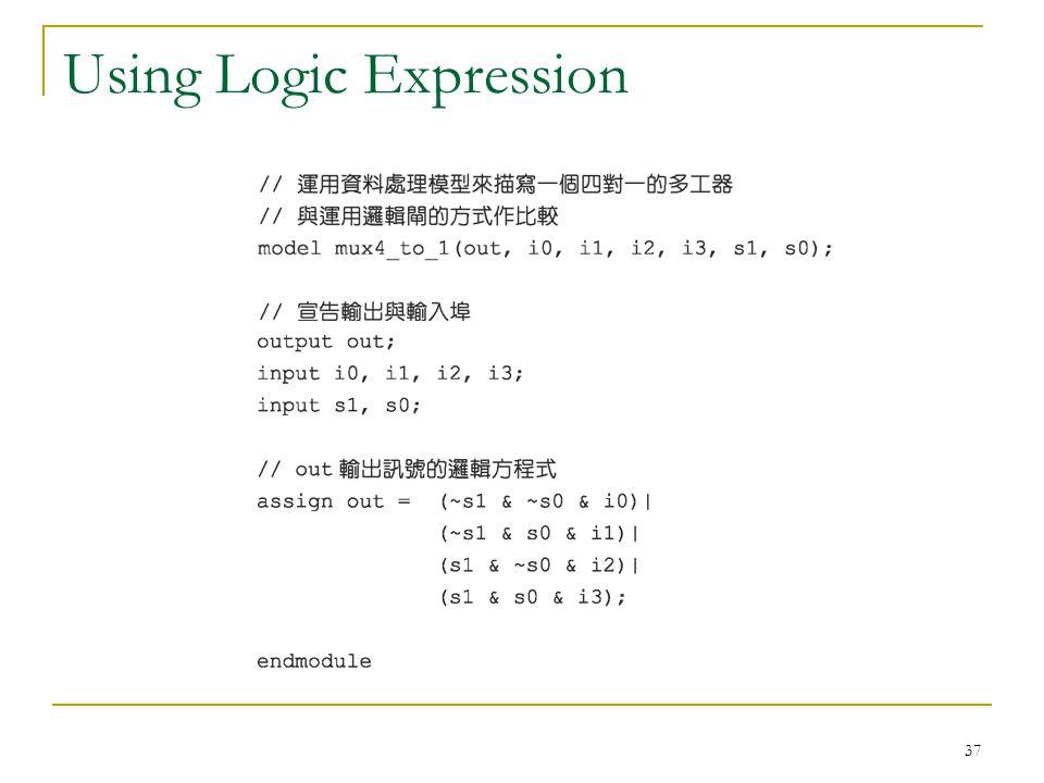 Using Logic Expression