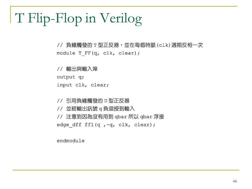 T Flip-Flop in Verilog