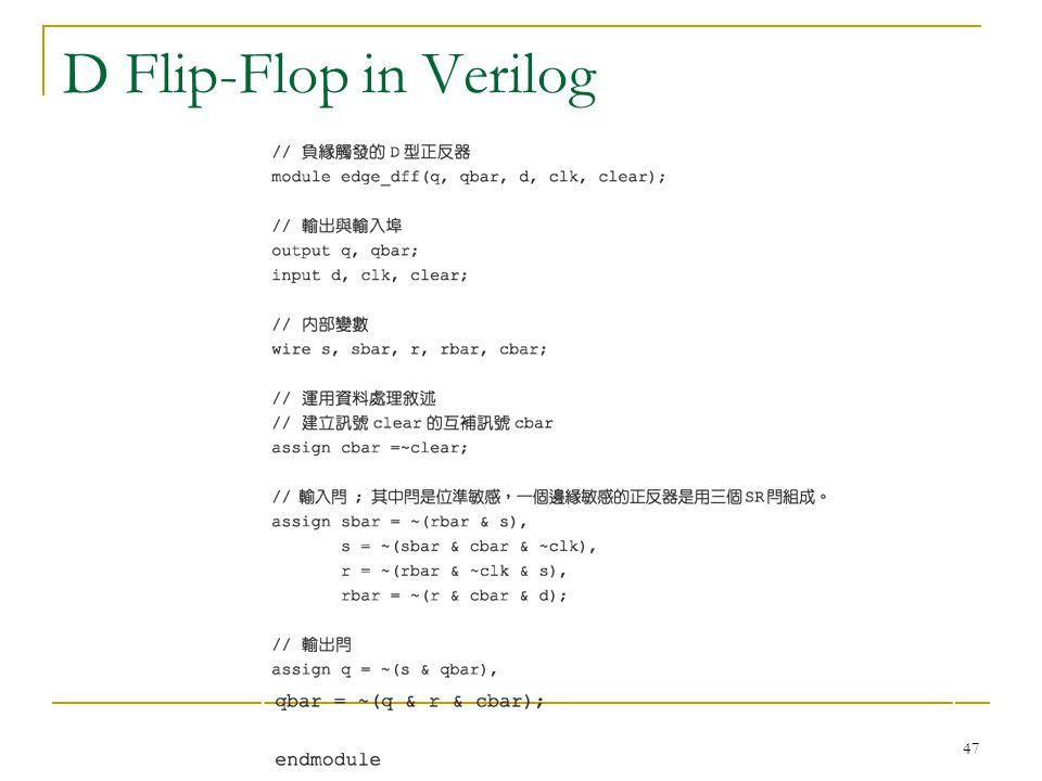 D Flip-Flop in Verilog