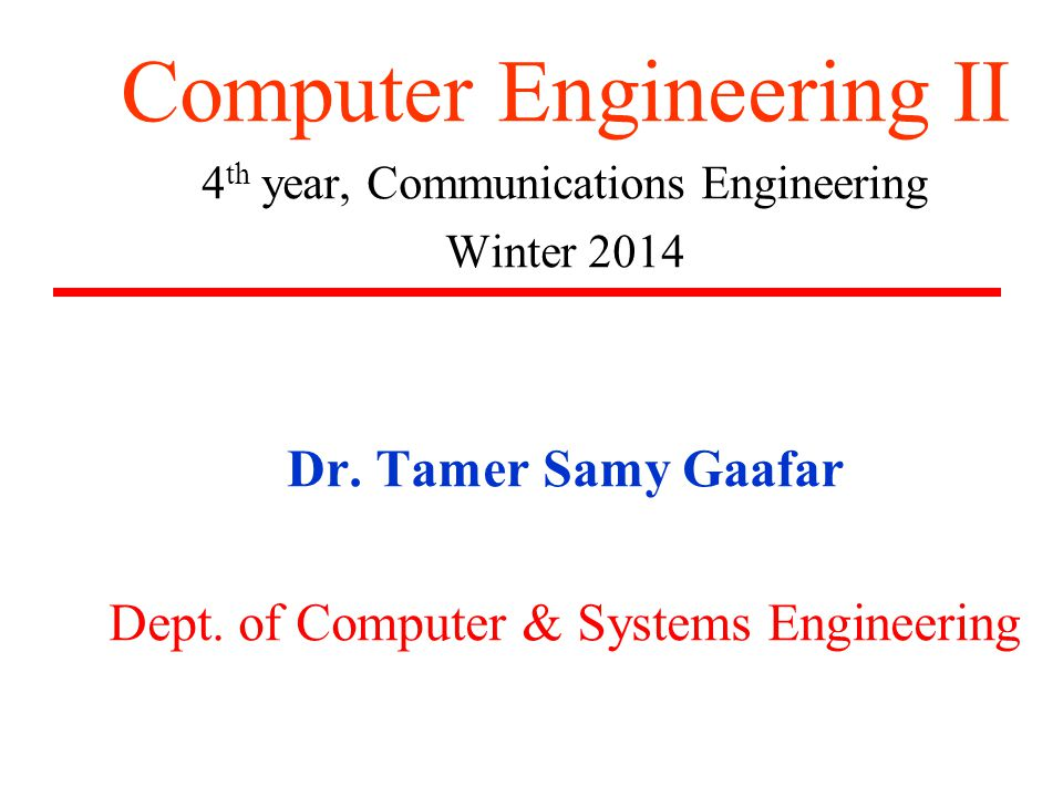 Computer Engineering II