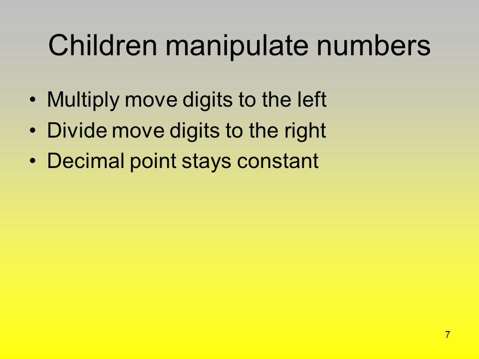 Children manipulate numbers