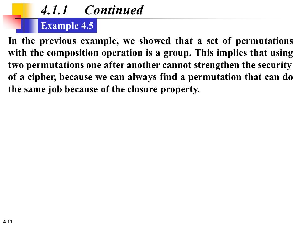 4.1.1 Continued Example 4.5.