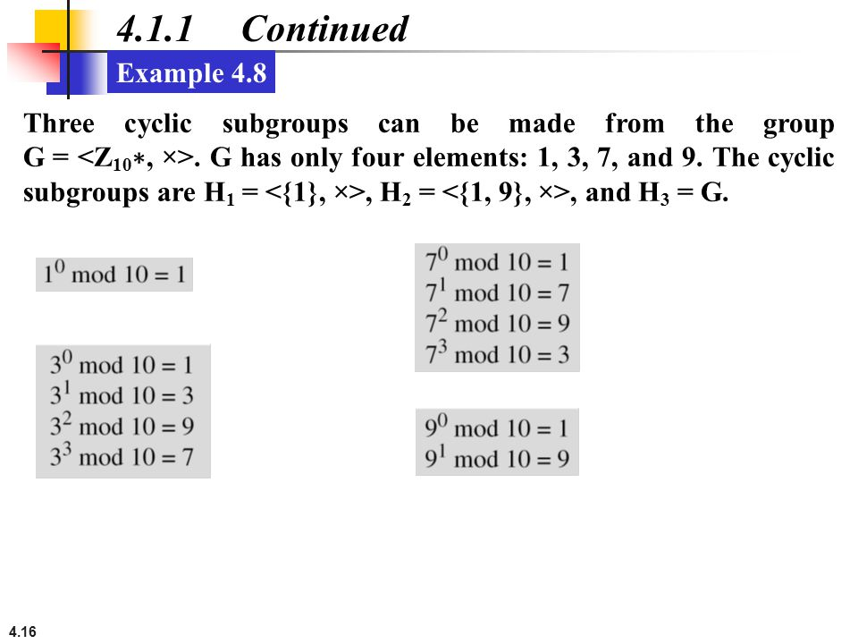 4.1.1 Continued Example 4.8.