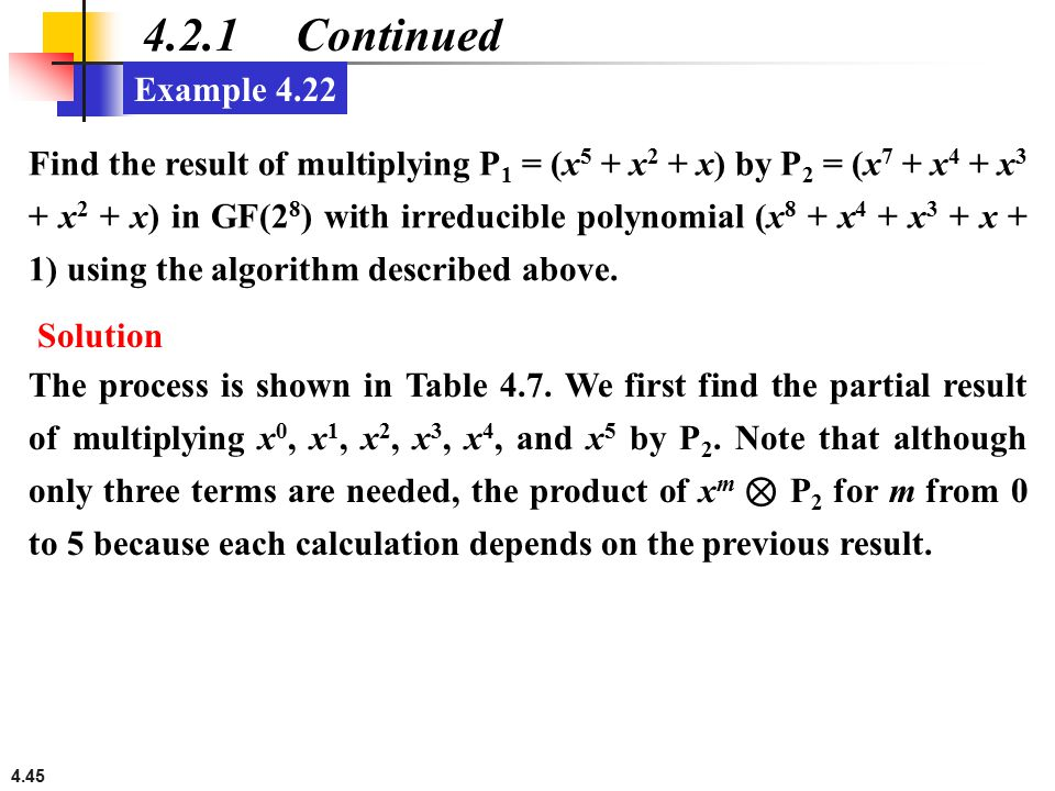 4.2.1 Continued Example 4.22.