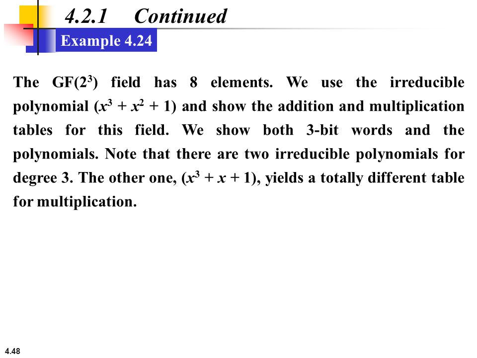 4.2.1 Continued Example 4.24.