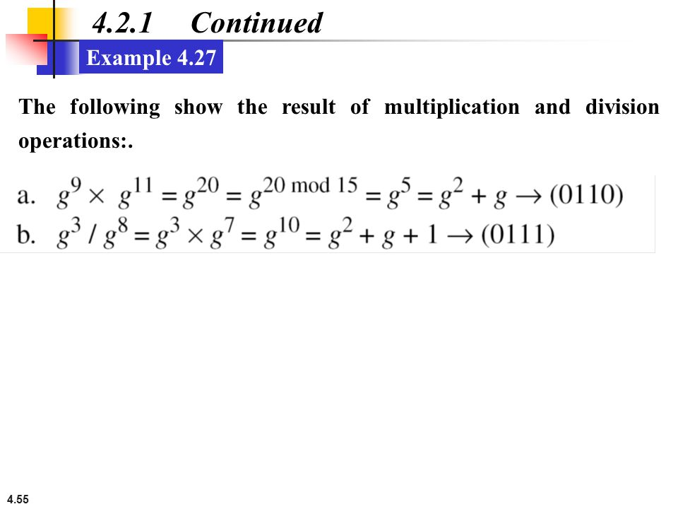 4.2.1 Continued Example 4.27.