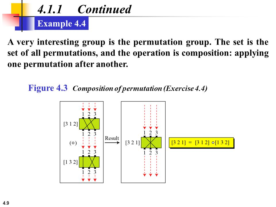 4.1.1 Continued Example 4.4.