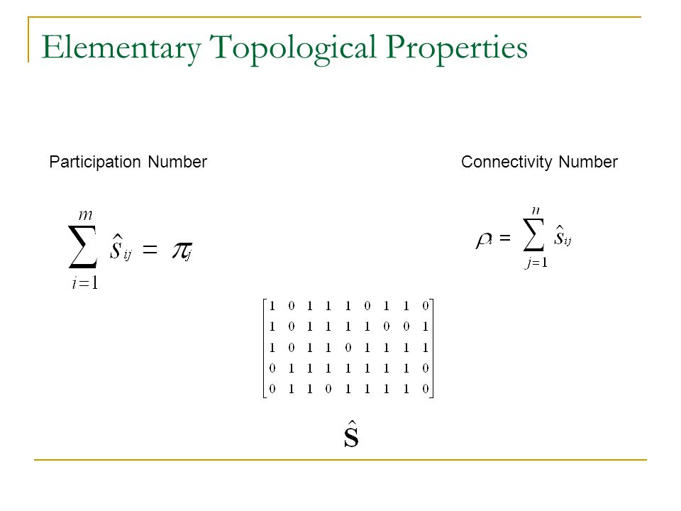 Elementary Topological Properties