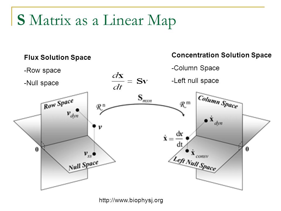 S Matrix as a Linear Map Concentration Solution Space
