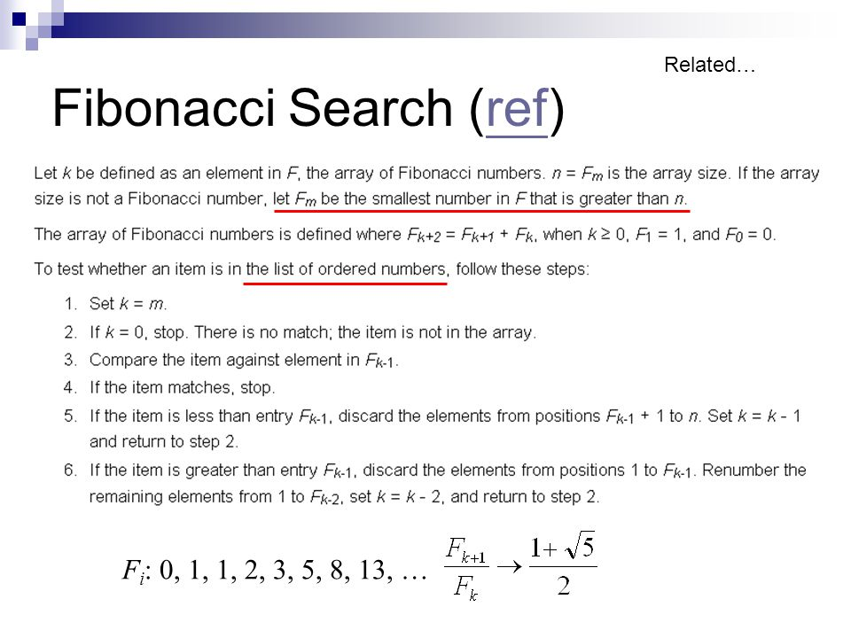 Fibonacci Search (ref)