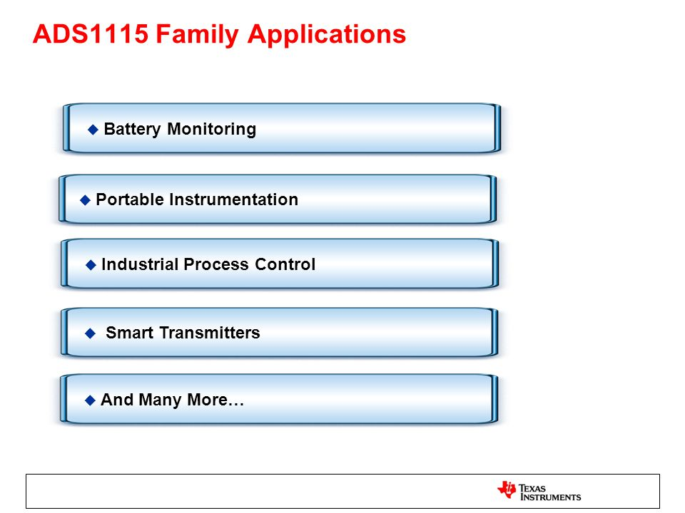ADS1115 Family Applications