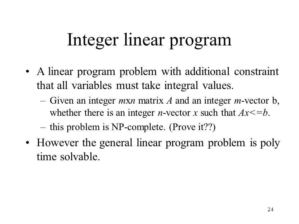 Integer linear program