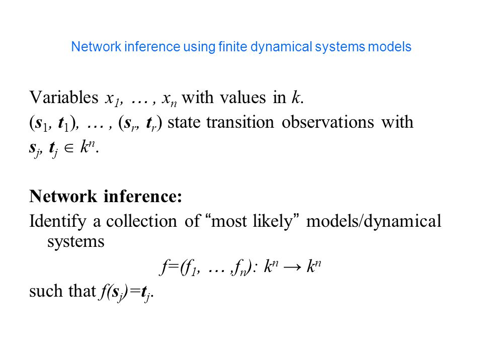 Network inference using finite dynamical systems models