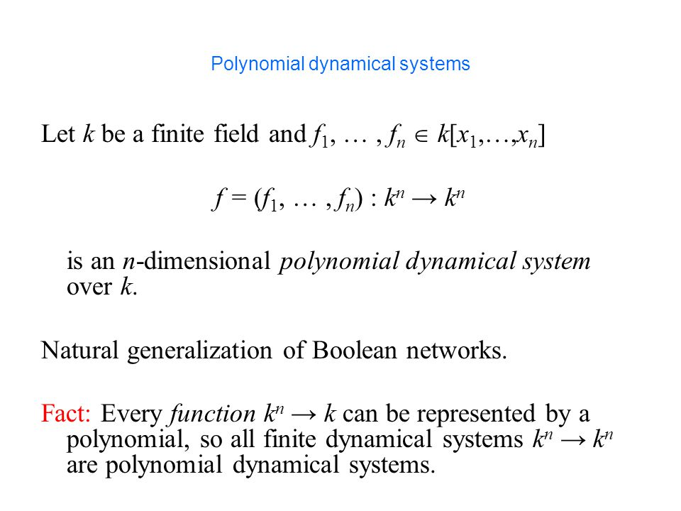 Polynomial dynamical systems