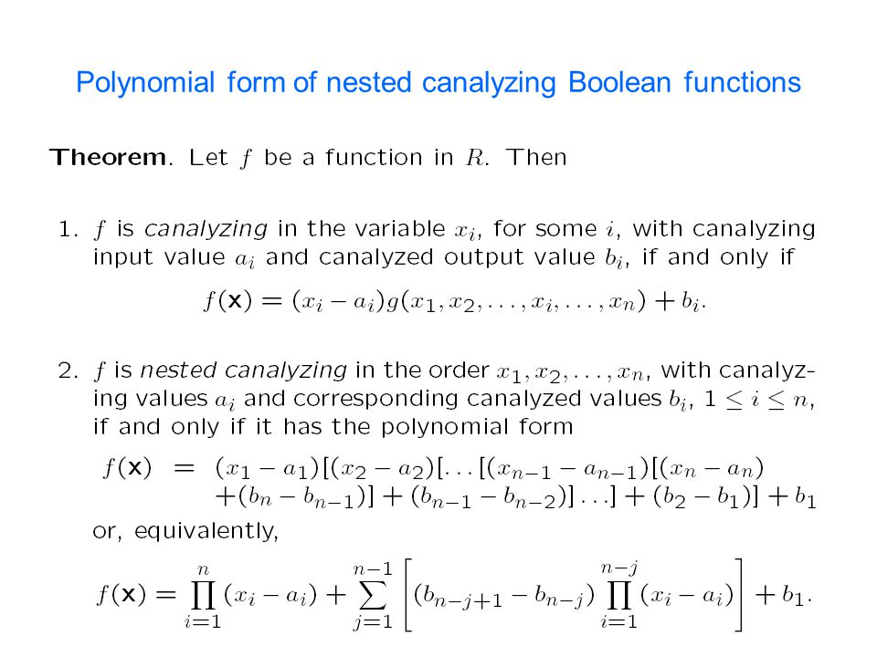 Polynomial form of nested canalyzing Boolean functions