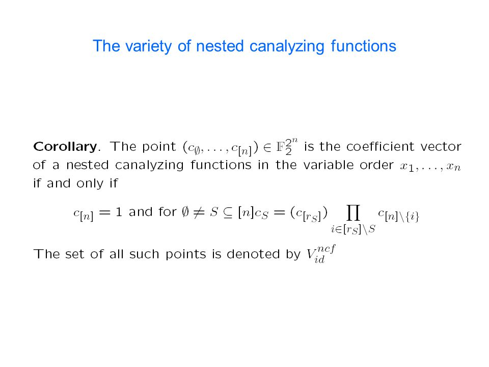 The variety of nested canalyzing functions
