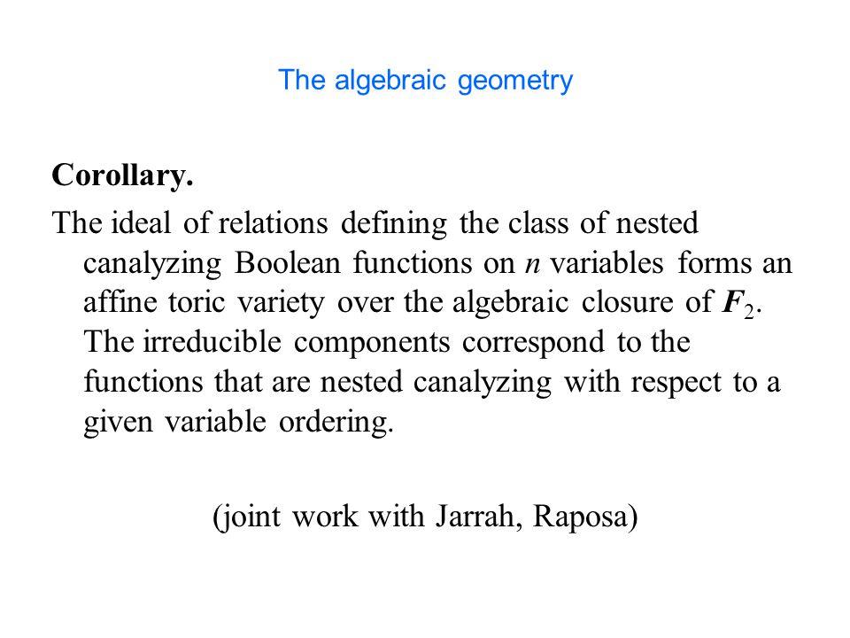 The algebraic geometry