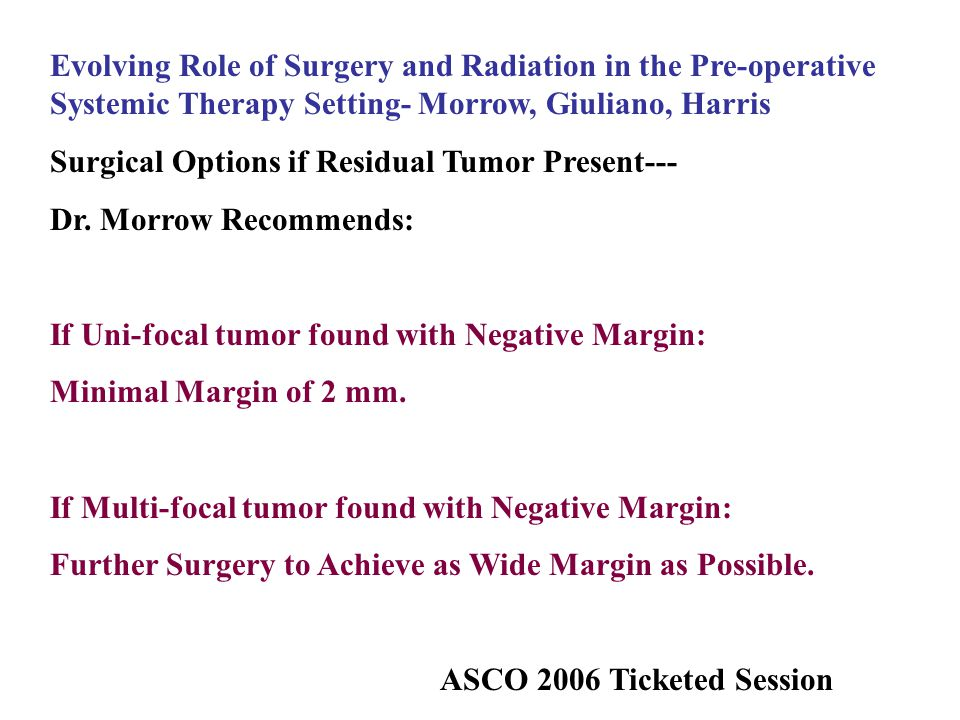 Evolving Role of Surgery and Radiation in the Pre-operative Systemic Therapy Setting- Morrow, Giuliano, Harris