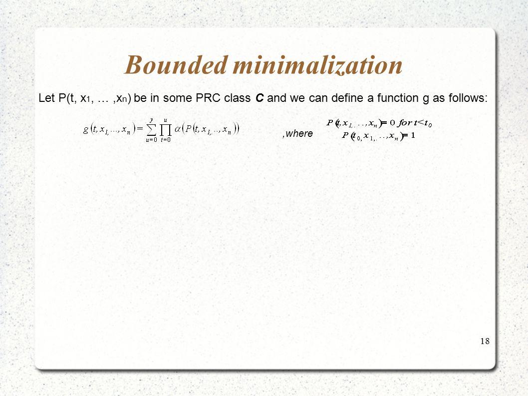 Bounded minimalization