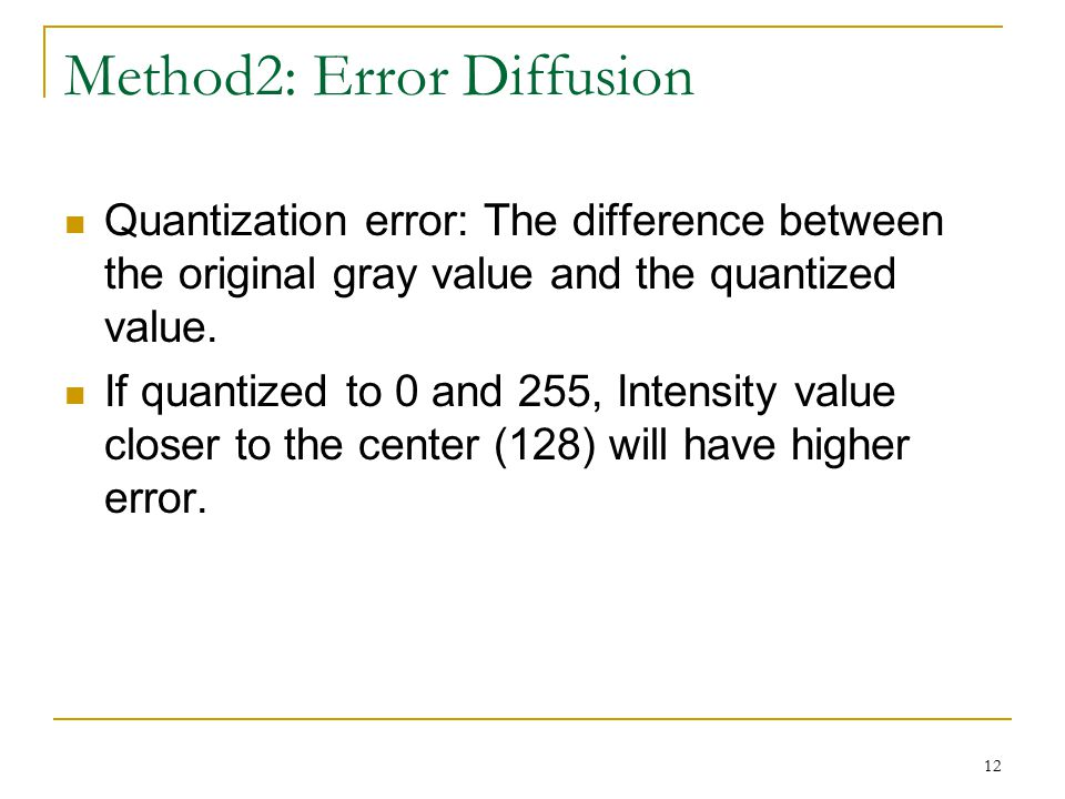 Method2: Error Diffusion