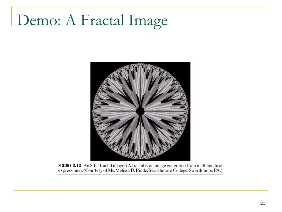 Demo: A Fractal Image
