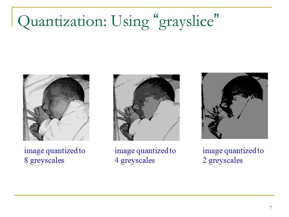 Quantization: Using grayslice