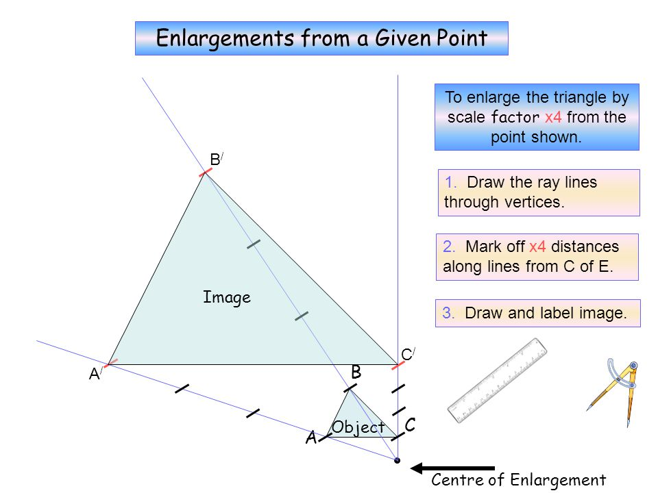 No Grid 3 Enlargements from a Given Point B C A