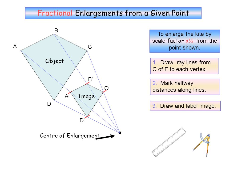 No Grid 6 Fractional Enlargements from a Given Point B