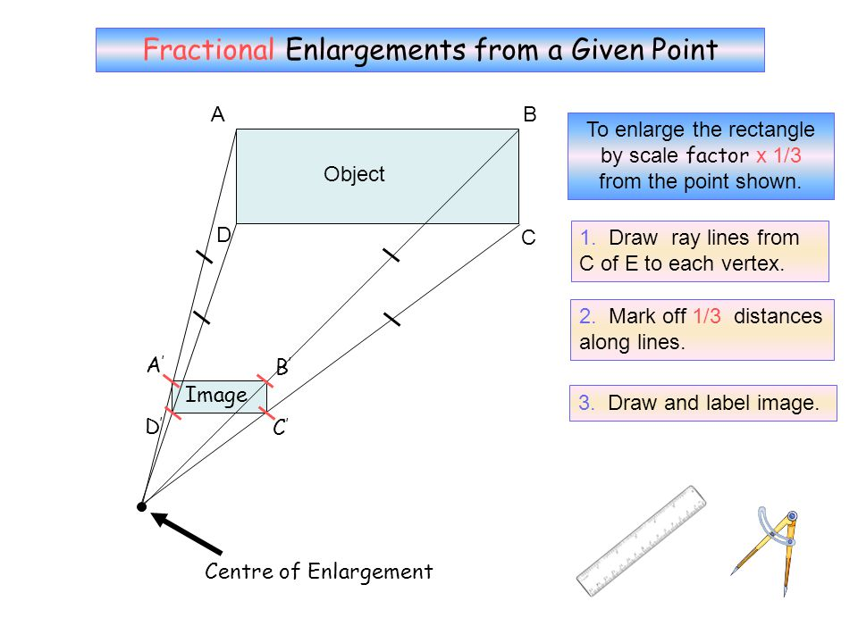 No Grid 7 Fractional Enlargements from a Given Point A B