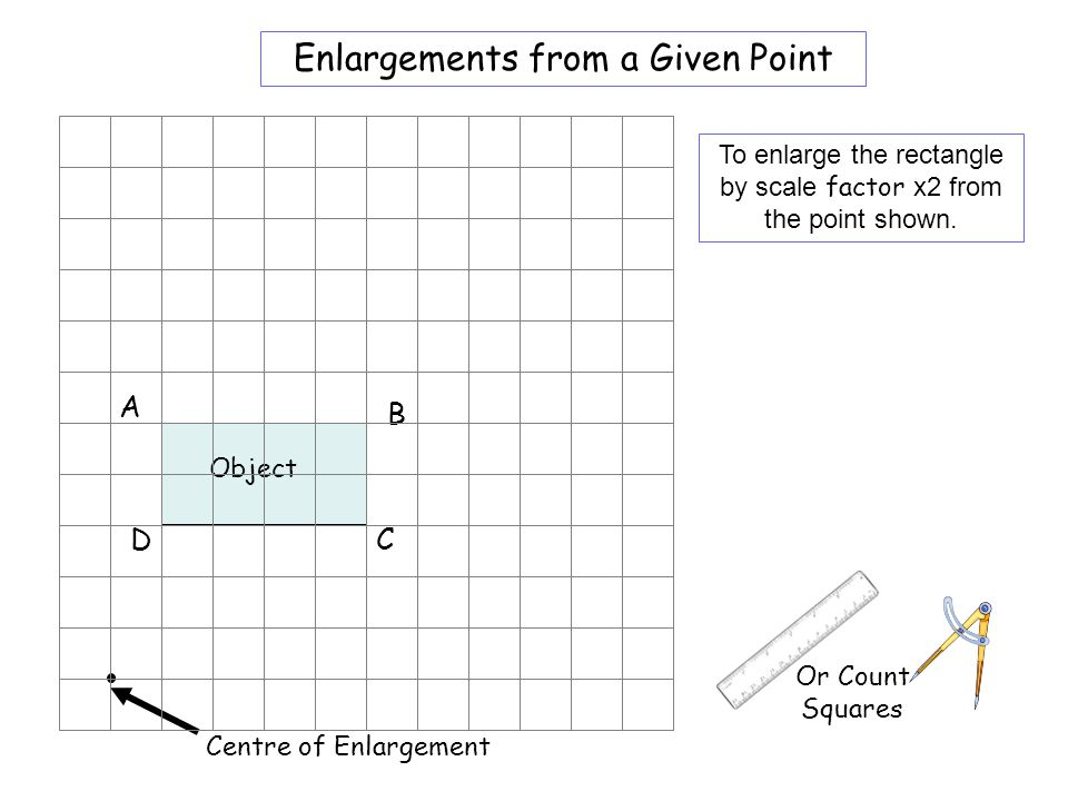 Worksheet 1 Enlargements from a Given Point A B D C
