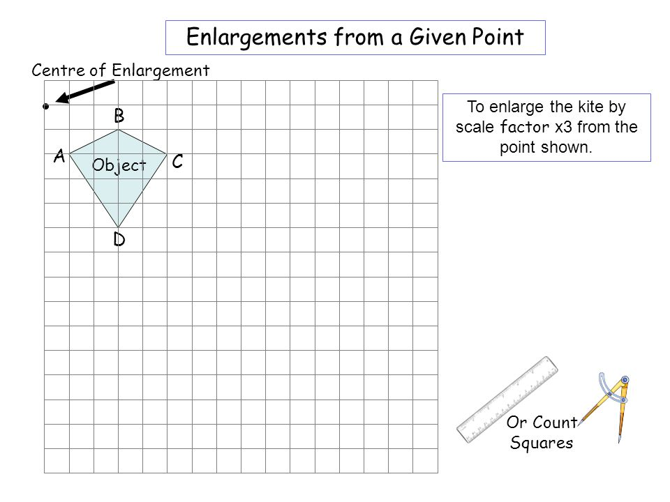 Worksheet 2 Enlargements from a Given Point B A C D