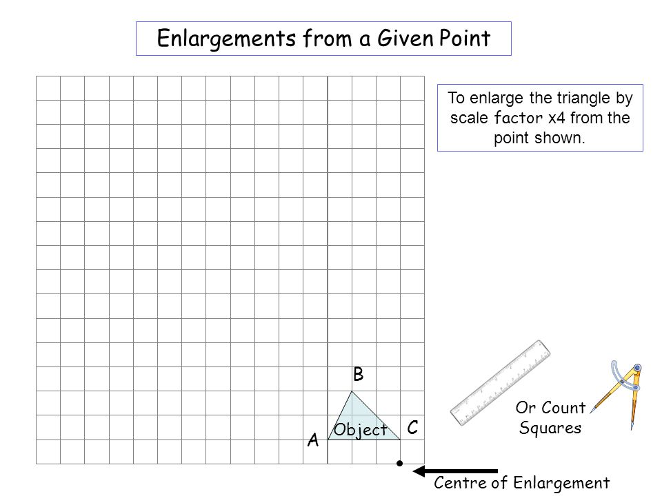 Worksheet 3 Enlargements from a Given Point B C A