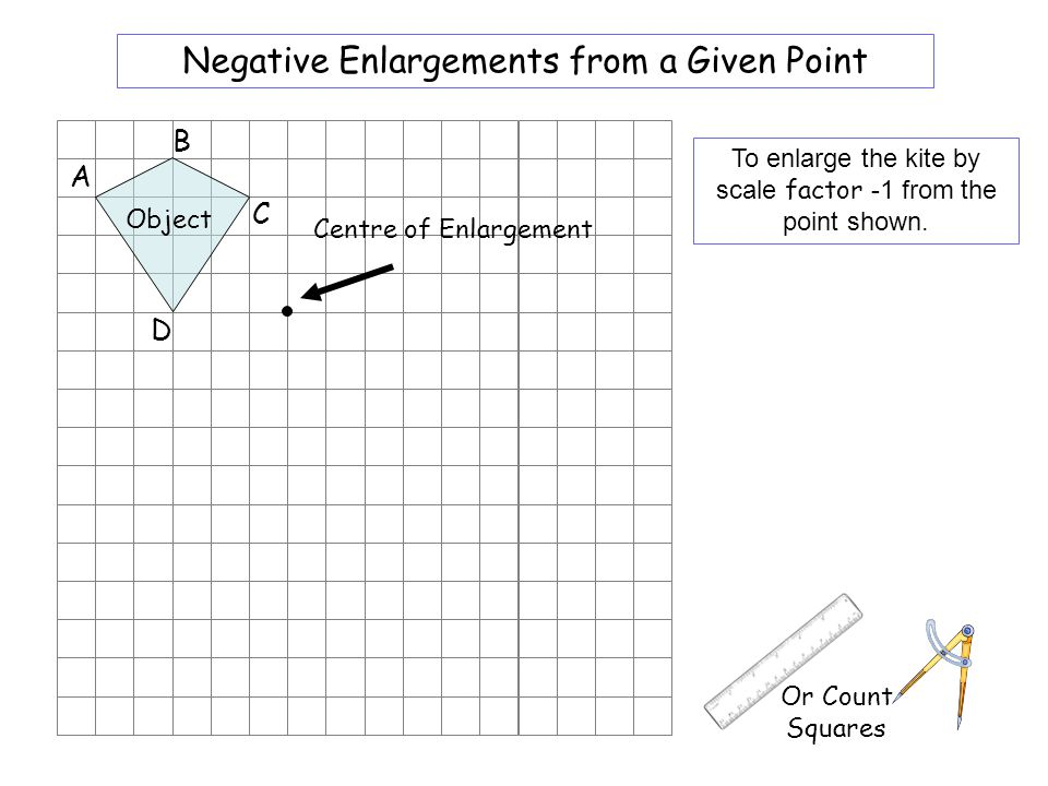 Worksheet 4 Negative Enlargements from a Given Point B A C D