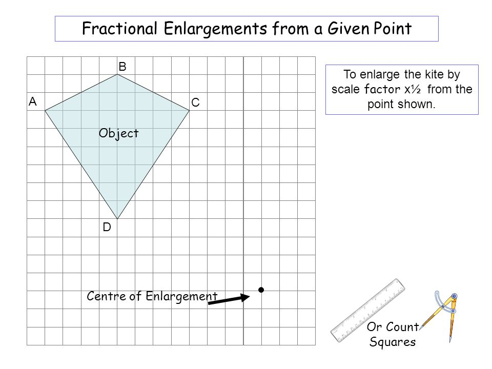 Worksheet 6 Fractional Enlargements from a Given Point B