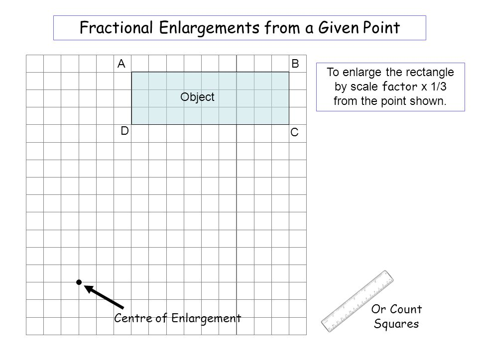 Worksheet 7 Fractional Enlargements from a Given Point A B