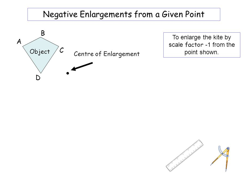 Worksheet 4A Negative Enlargements from a Given Point B A C D