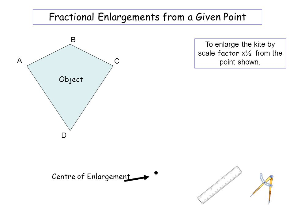 Worksheet 6A Fractional Enlargements from a Given Point B