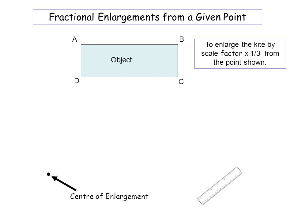 Worksheet 7A Fractional Enlargements from a Given Point A B
