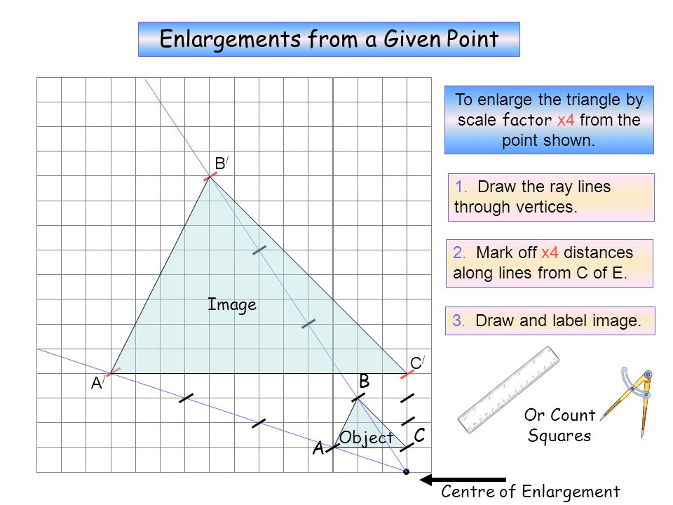 X4 Enlargements from a Given Point B C A