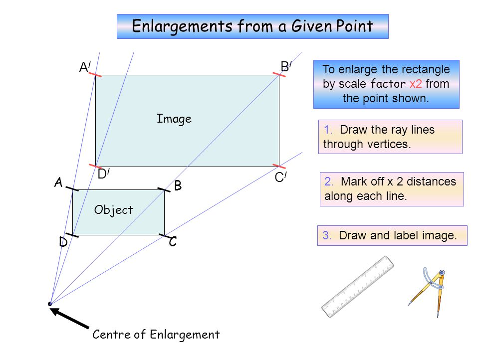 No Grid 1 Enlargements from a Given Point A/ B/ D/ C/ A B D C