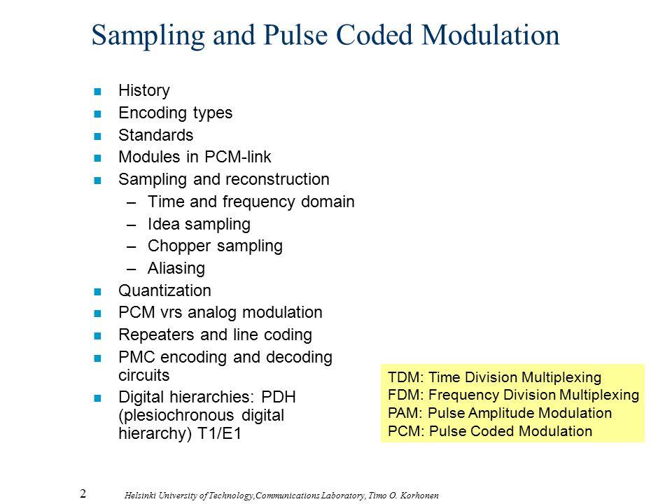 Sampling and Pulse Coded Modulation