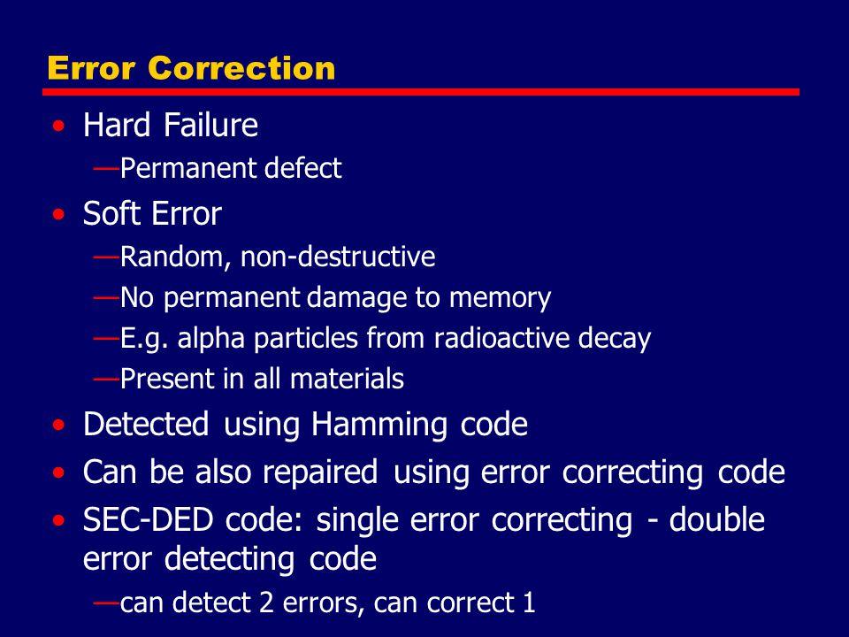 Detected using Hamming code