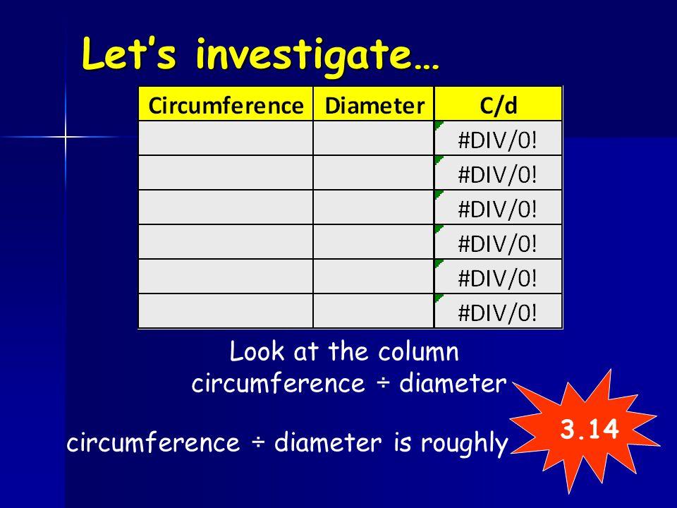 circumference ÷ diameter