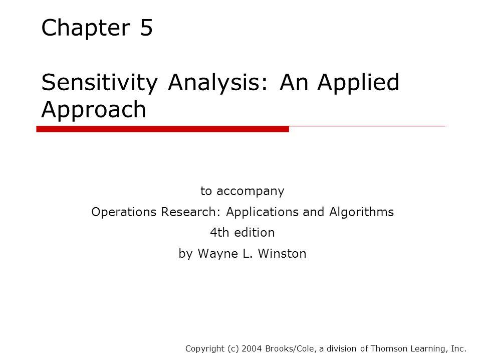 Chapter 5 Sensitivity Analysis: An Applied Approach